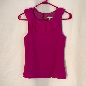 J Crew 0 Gabby Top Pink Silk Crinkle Chiffon 1281